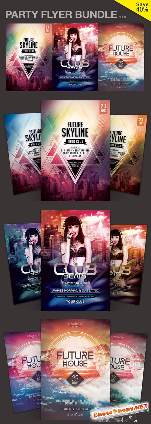 Party Flyer Bundle Vol.02 - CM 126269