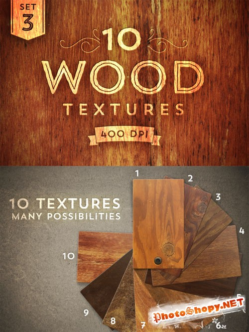 10 Wood Textures - Set 3 - CM 14567