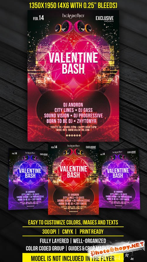 Flyer Template - Valentine Bash