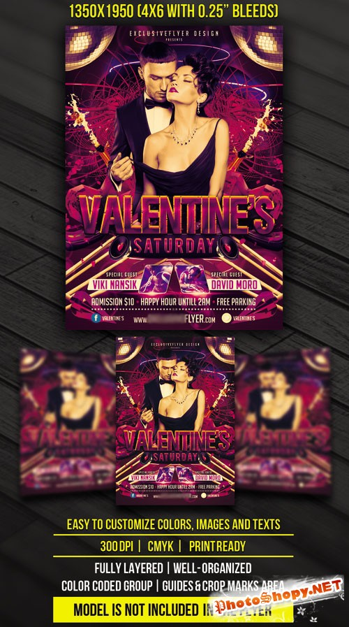 Flyer Template - Valentines Saturday
