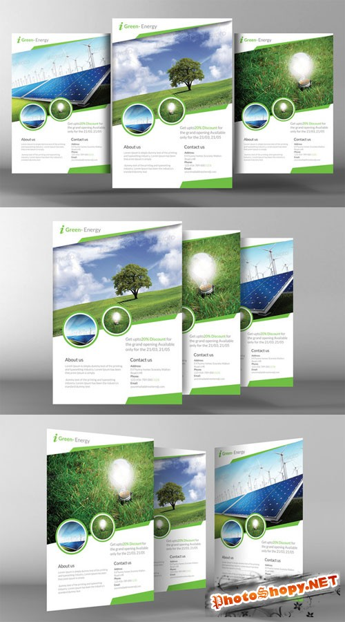 Renewable Energy Go Green Flyer - CM 141221