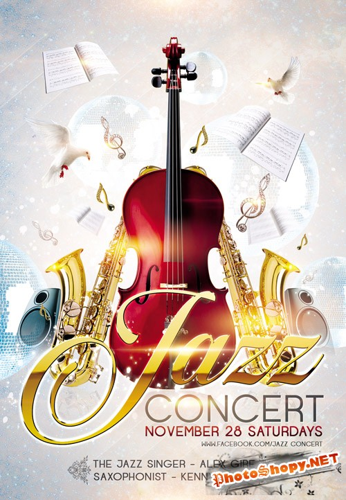 Flyer PSD Template - Jazz Concert