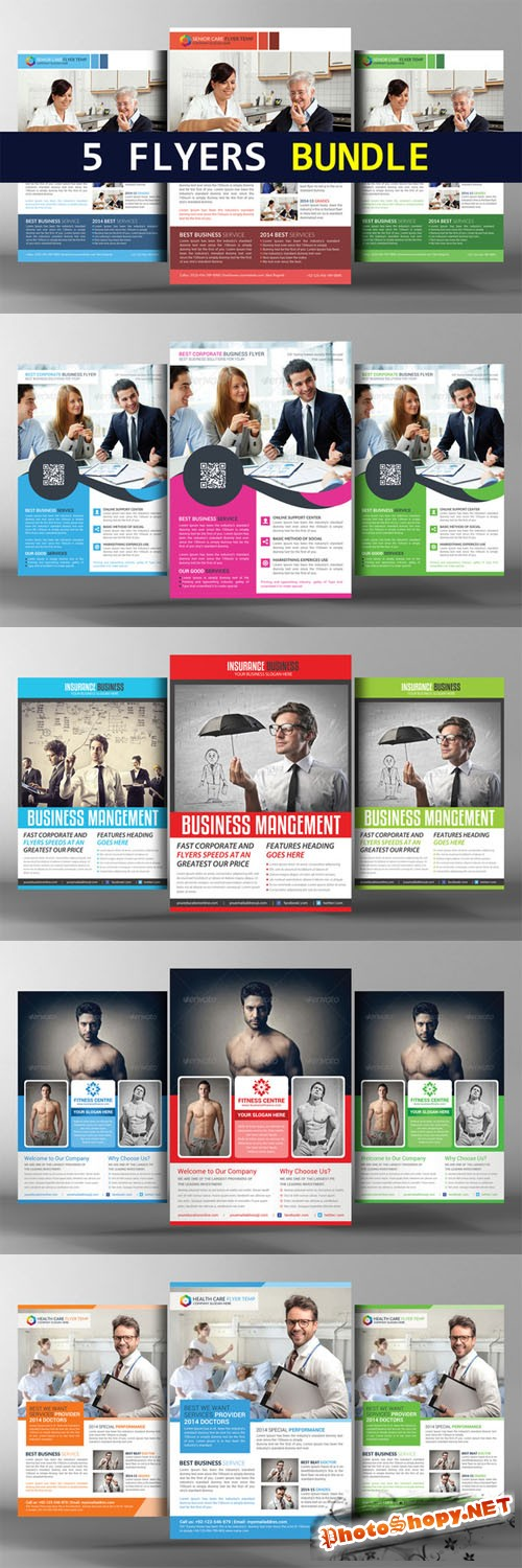 5 Corporate Business Flyers Bundle - CM 166750