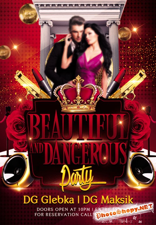 Party Flyer Template - Beautiful And Dangerous