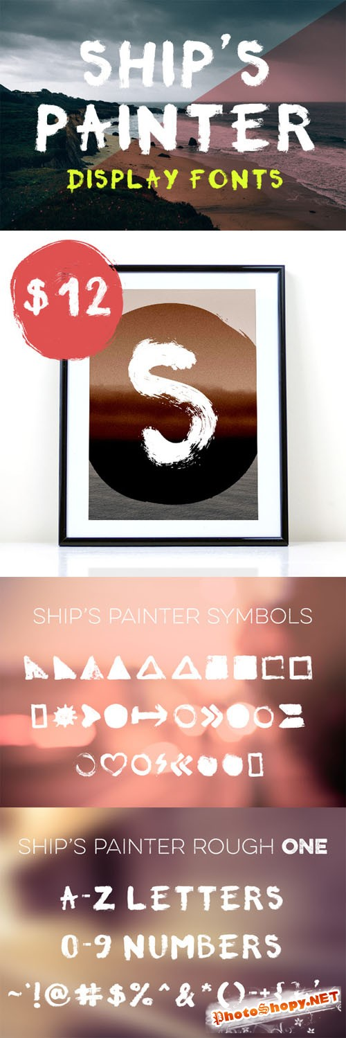 Ships Painter Rough Font