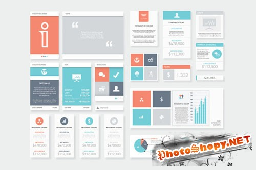 Clean and Fresh Infographic Elements - CM 75039