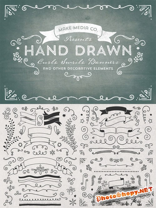Hand Drawn Curls & Banners Vol. 1 - CM 16797