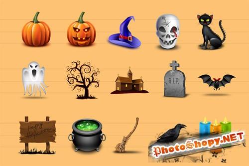 15 Halloween Icons - CM 14299