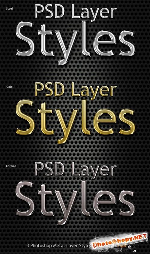 Photoshop Metal Text Styles - CM 17744