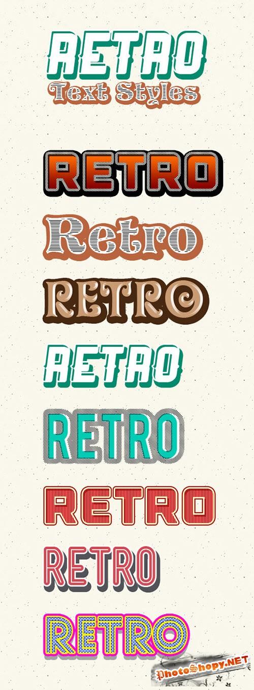 Photoshop Retro Text Styles - CM 17747
