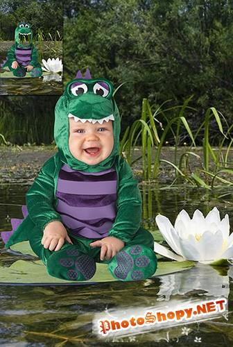 Детский фотошаблон - Лягушонок