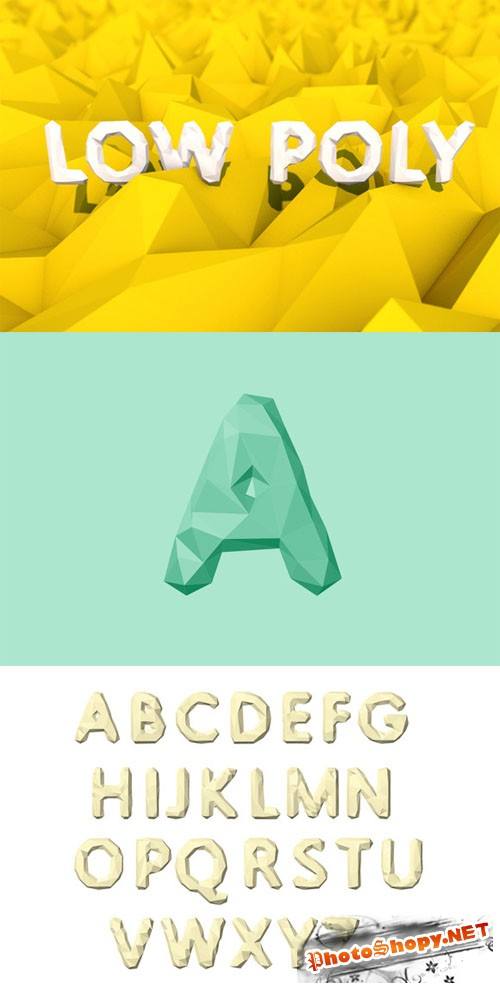 Vector Low Poly Alphabet - CM 30613