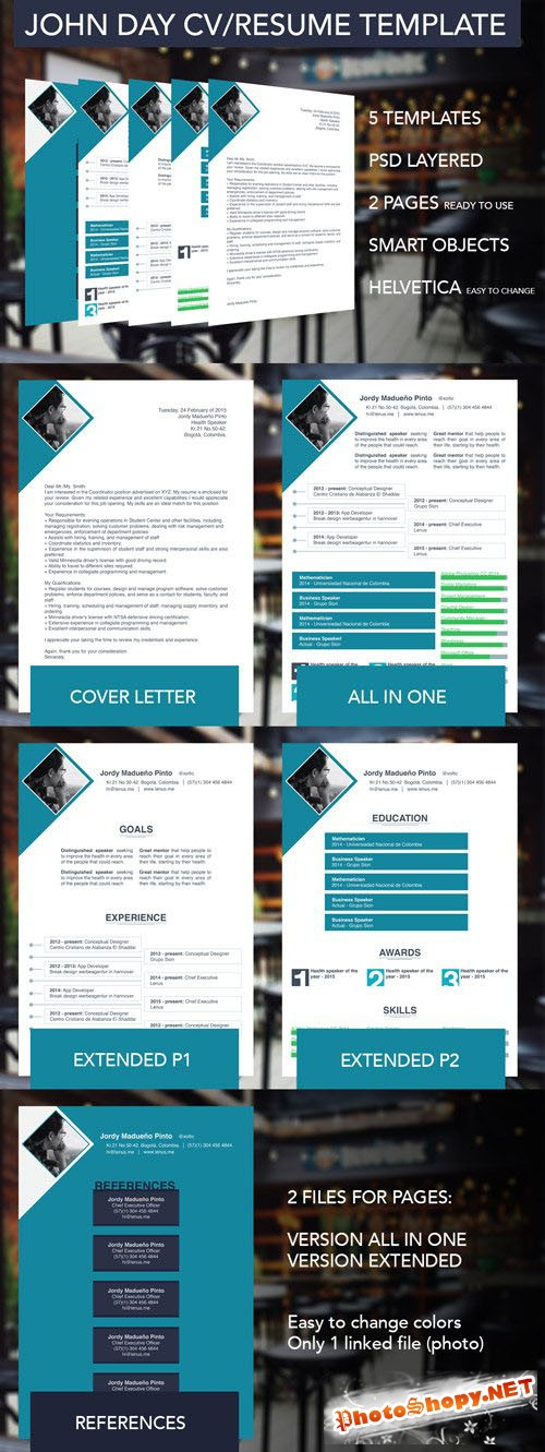 5 Multipurpose Resume/CV Templates - CM 201293
