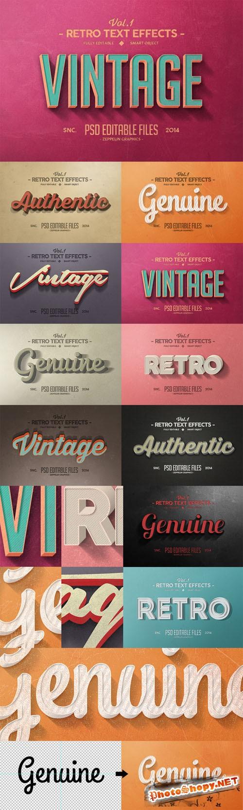 Vintage Text Effects Vol.1 - CM 57961