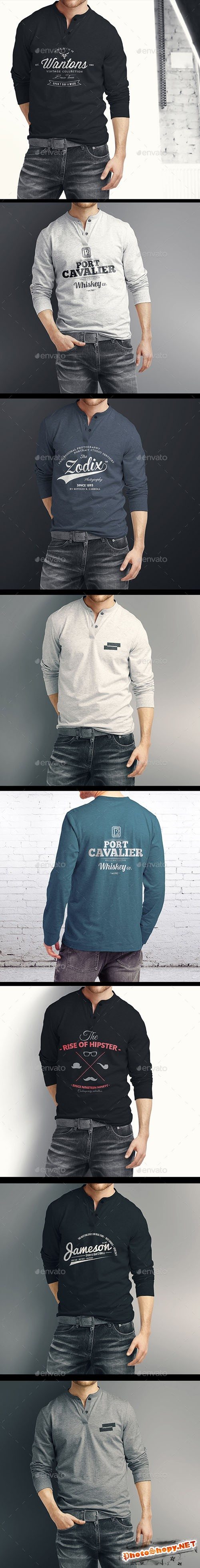 Man Longsleeve Shirt Mock-up - Graphicriver 9610861