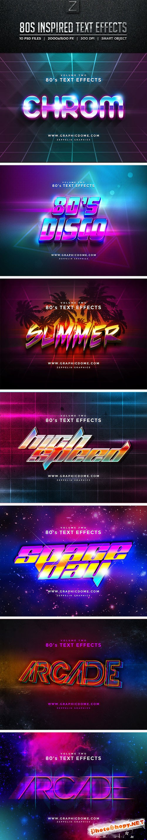 80s Text Effects - Graphicriver 10256165