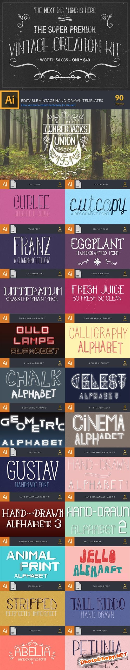 Super Premium Vintage Resources - InkyDeals