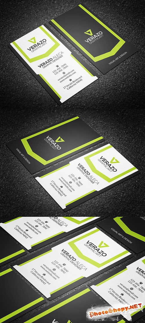 Creative Vertical Business Card - CM 214253