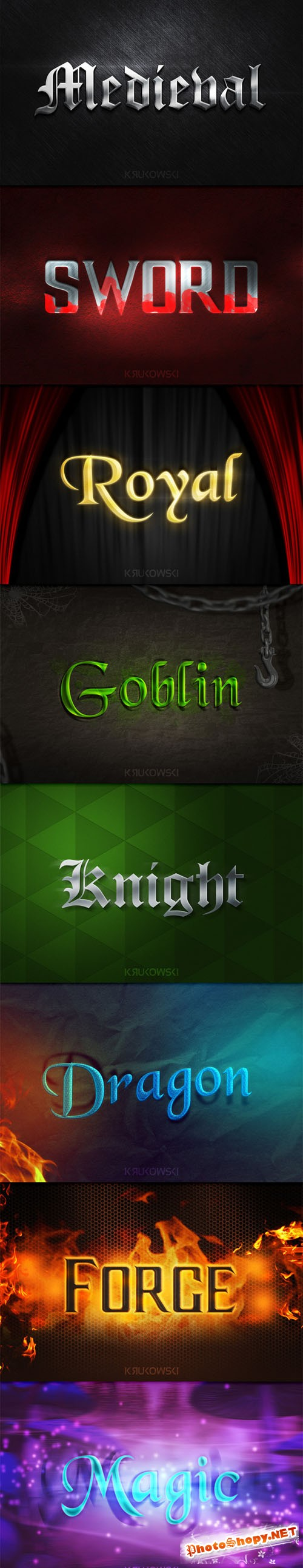 Medieval Text Effects - CM 214290