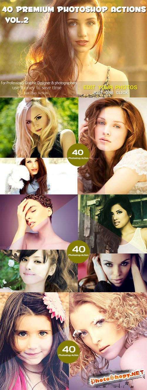 40 Premium Photoshop Actions VoL.2 - CM 214257