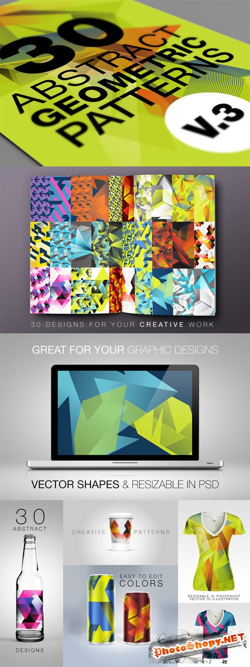 Abstract Geometric Backgrounds v.3 - Creativemarket 27450
