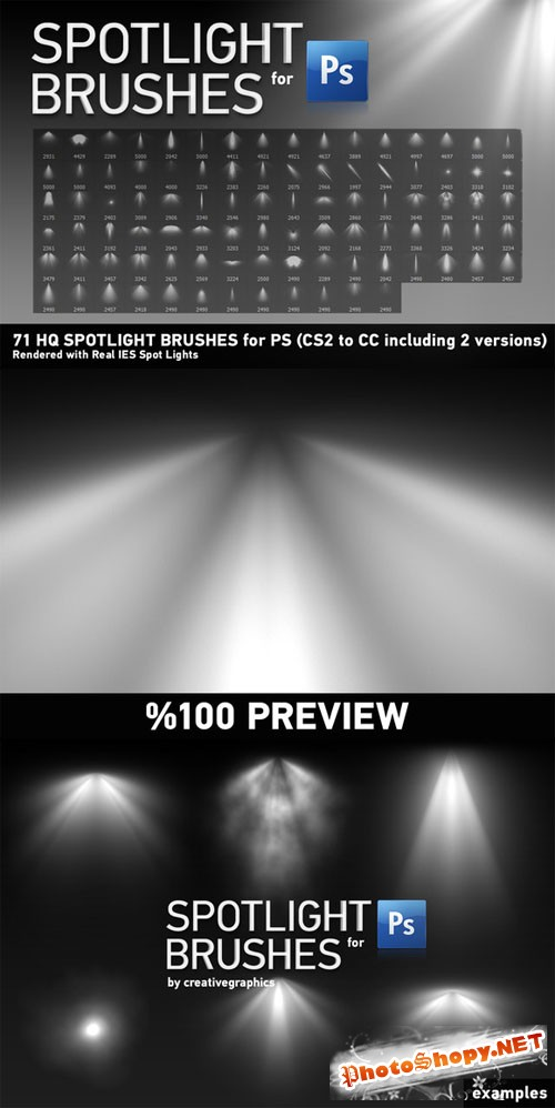71 HQ Spotlight Brushes for PS - Creativemarket 201867
