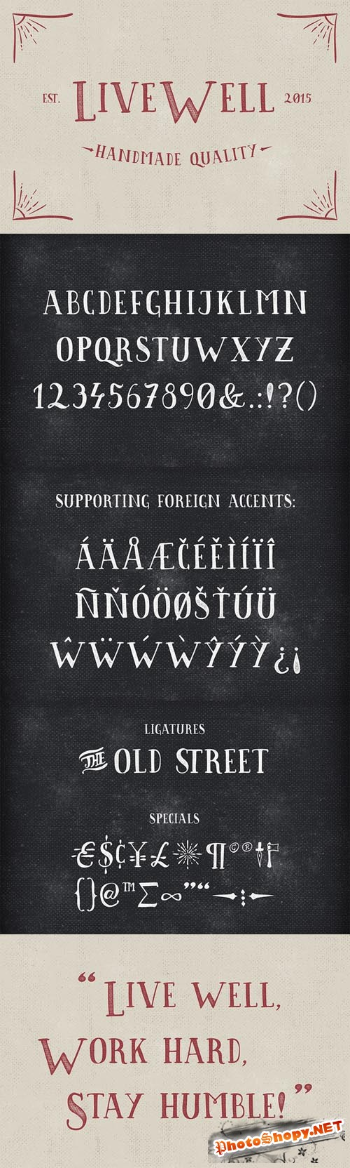 Font OTF - Livewell Typeface