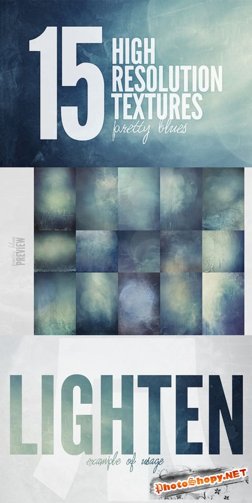 Pretty Blues - Creativemarket 136149
