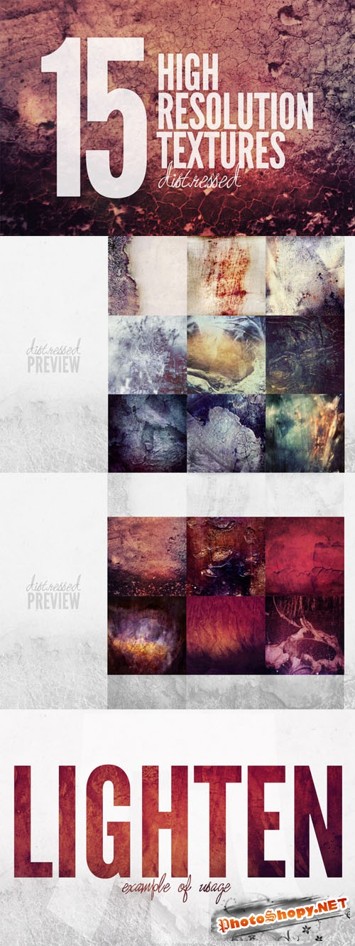 Distressed Textures - Creativemarket 137588