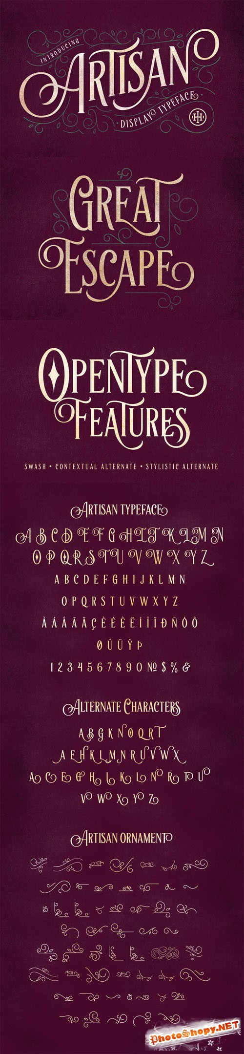 Artisan Display Typeface - Creativemarket 198813