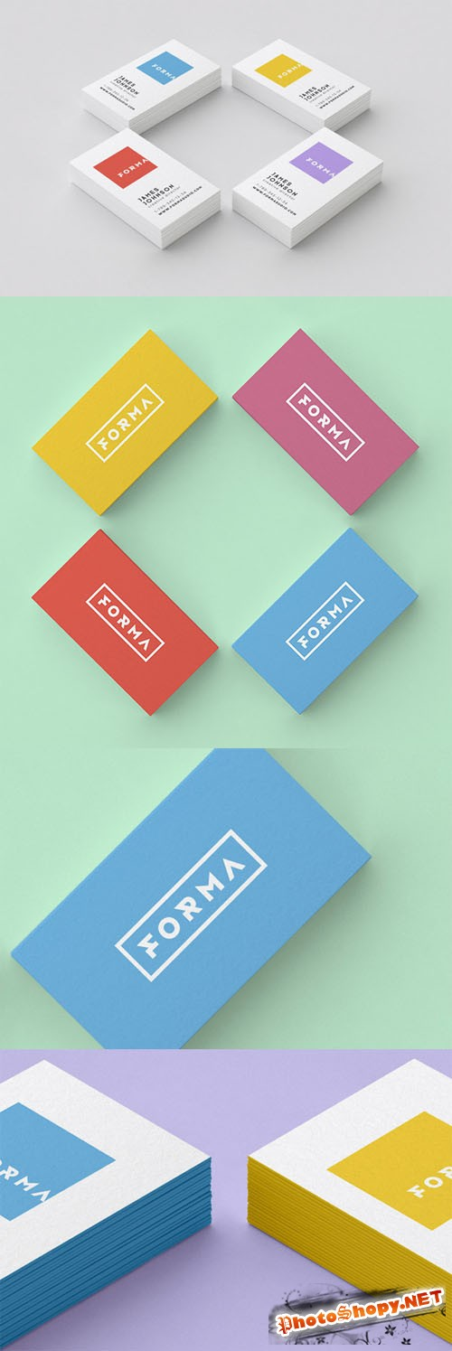 2 Business Card PSD Mock-up Templates