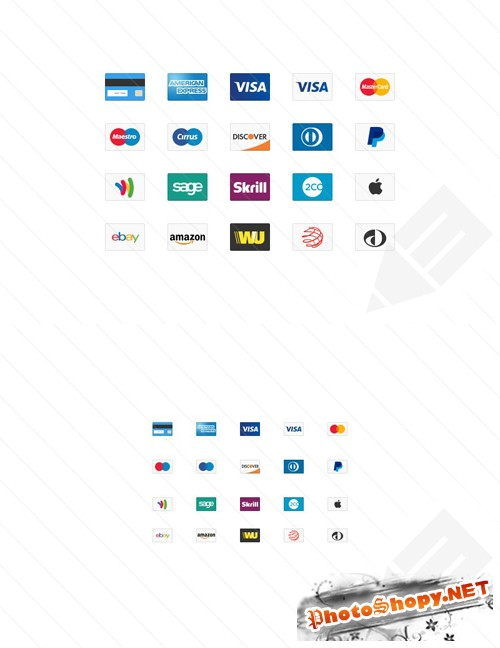Credit Card Web Icons PSD