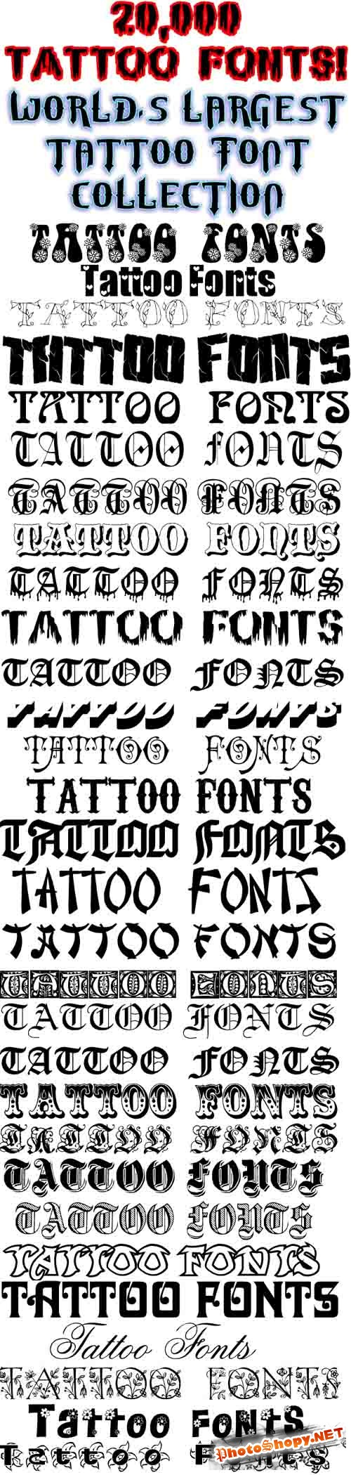20k Tattoo Fonts Worlds Largest Collections