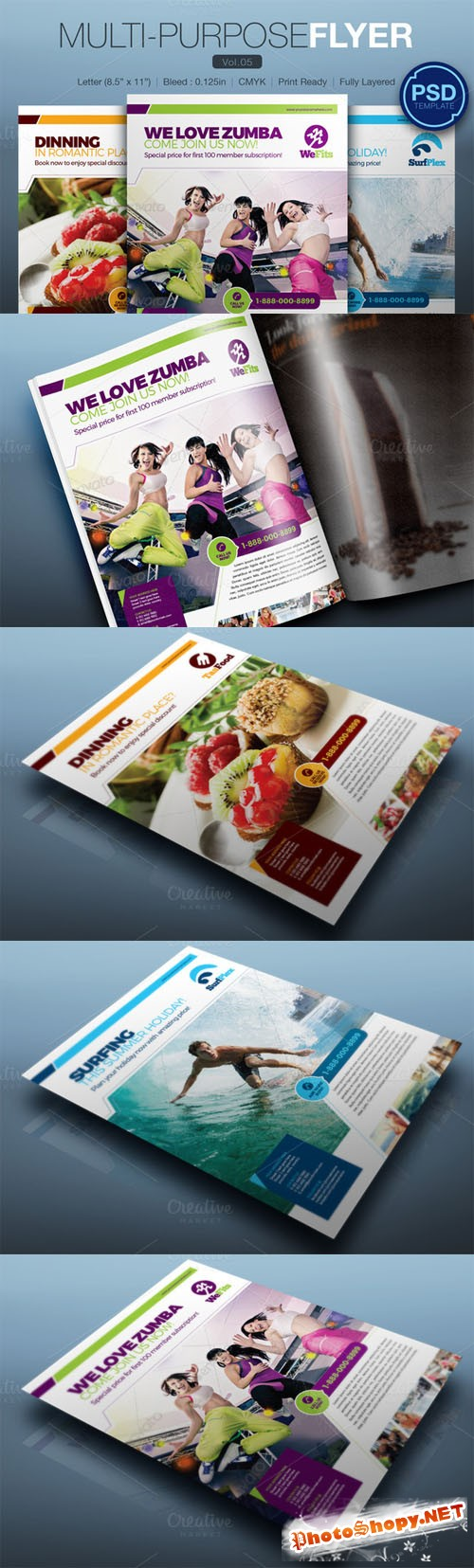 Multipurpose Flyer Vol.05 - Creativemarket 159543