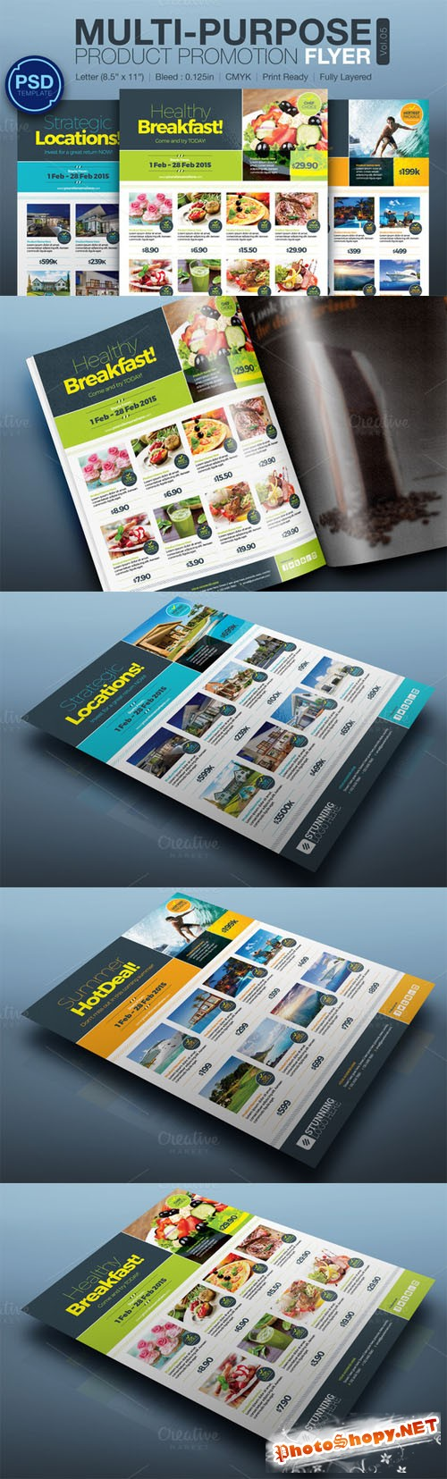 Multipurpose Product Promotion Flyer - Creativemarket 162612