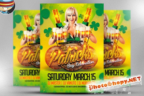 St. Patrick's Day Celebrations Flyer - Creativemarket 20052