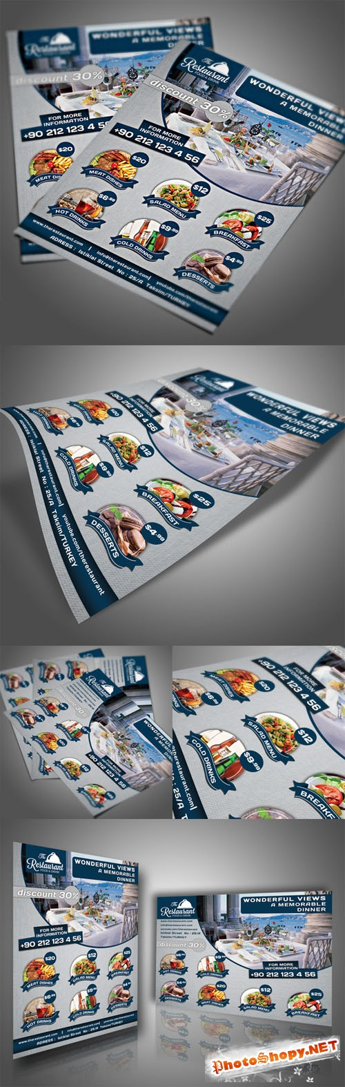 Restaurant Flyer Template - Creativemarket 203281