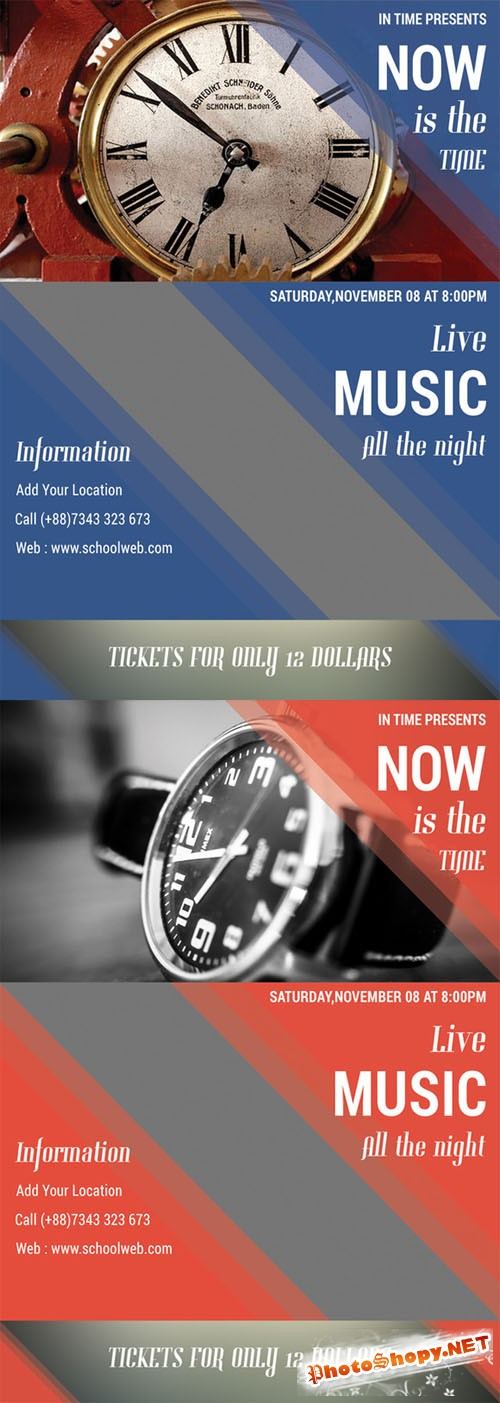 In Time Flyer Template - Creativemarket 203384