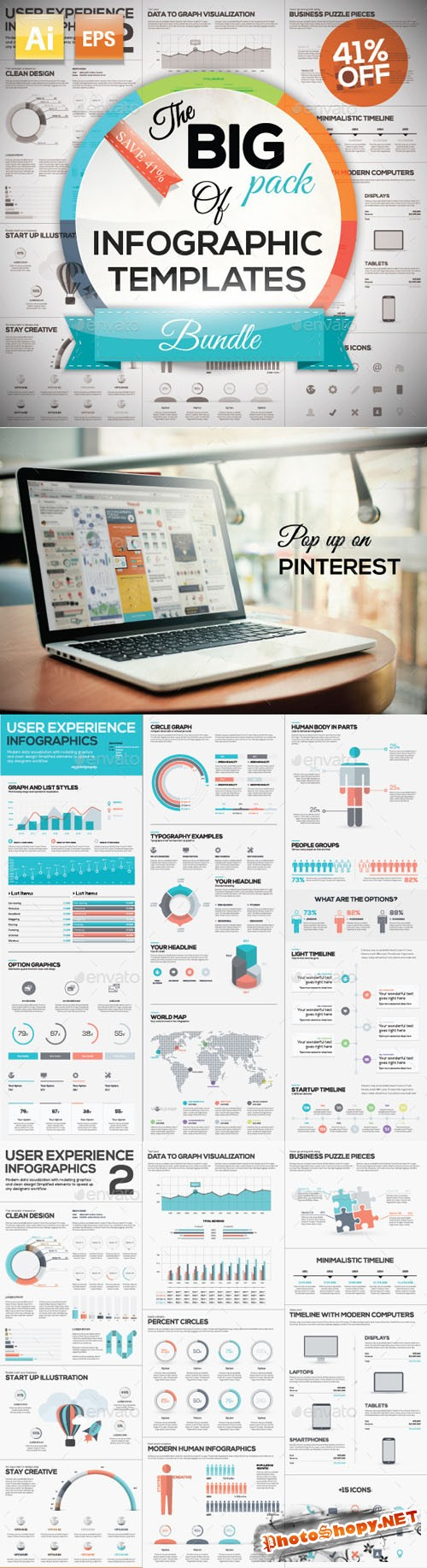 The Big Pack of Infographic Templates 8994488