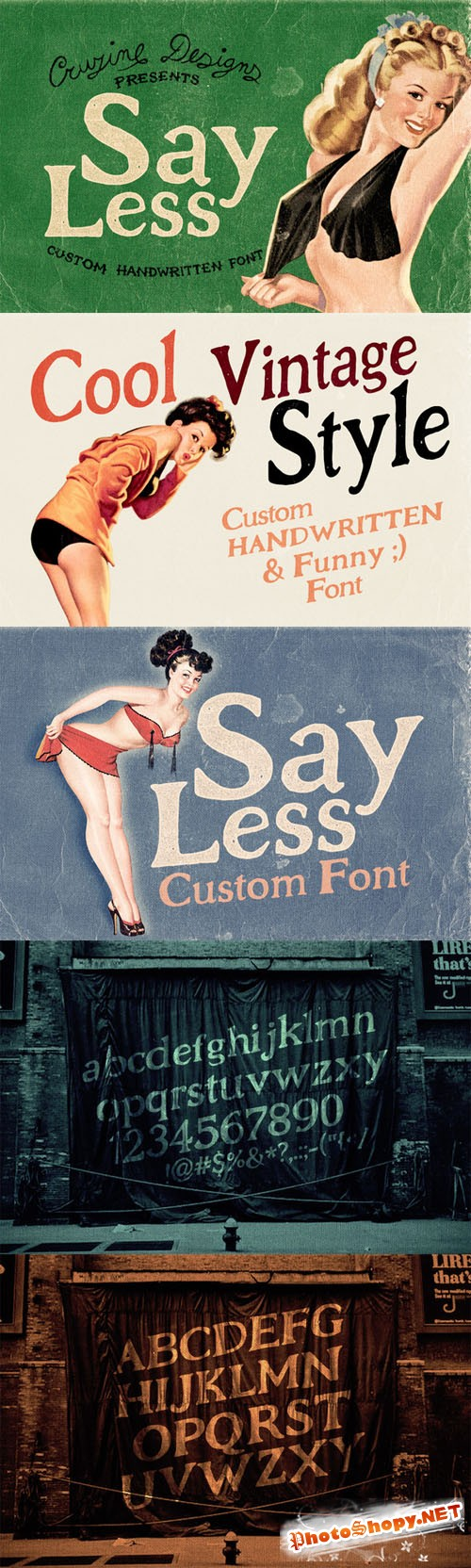 Say Less Custom Font - Creativemarket 77254