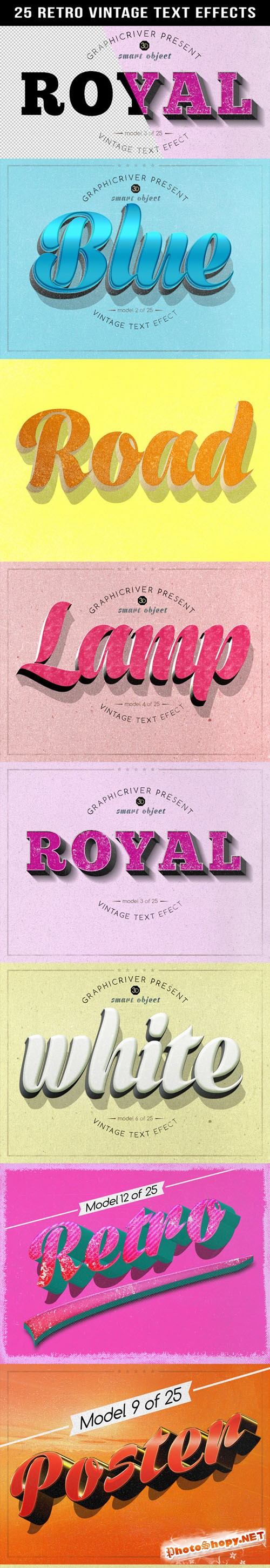 Retro Vintage Text Effects - Graphicriver 10715454
