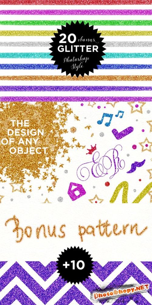 20 Glitter Photoshop style - CM 132385