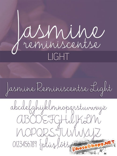 Jasmine Reminiscentse Light Font - Creativemarket 180413
