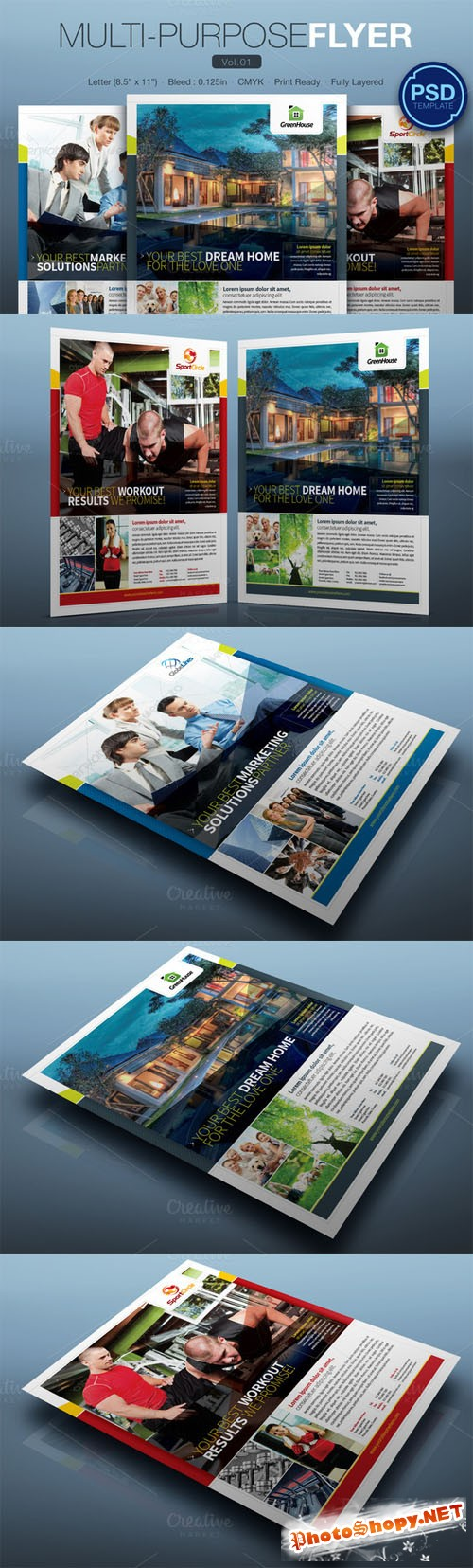 Multipurpose Flyer Vol.01 - Creativemarket 106771