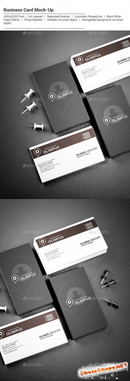 Realistic / Business Card / Mockup - Graphicriver 10482923