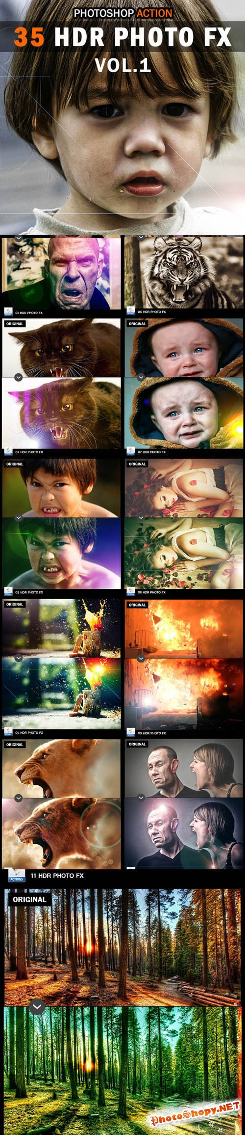 35 HDR Photo FX V.1 - Photoshop Action - Graphicriver 10200067