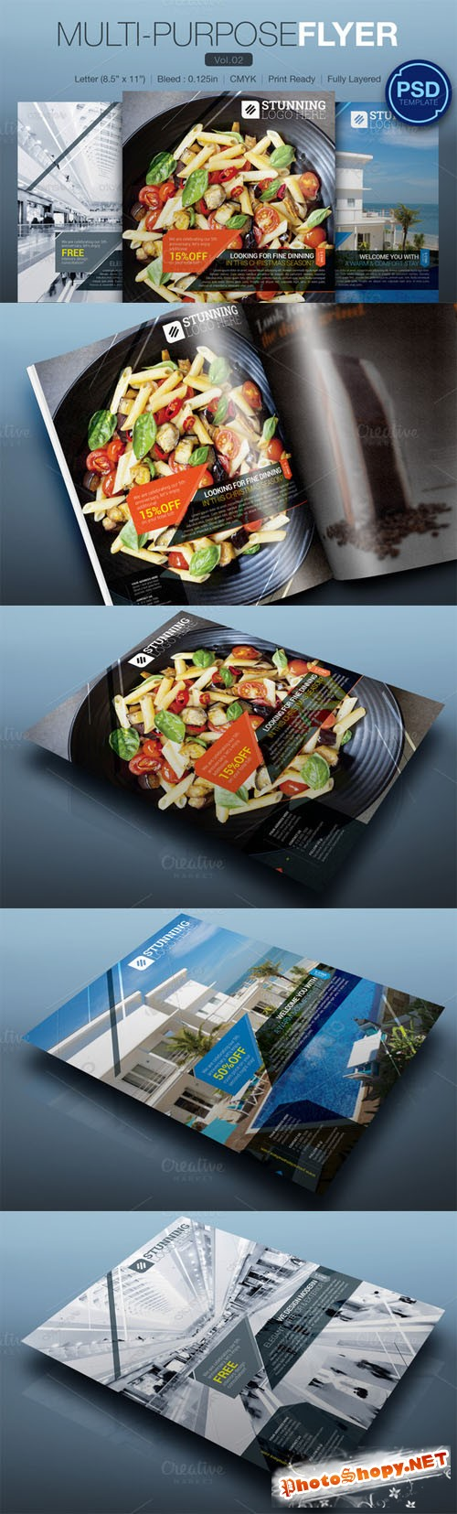 Multipurpose Flyer Vol.02 - Creativemarket 111199
