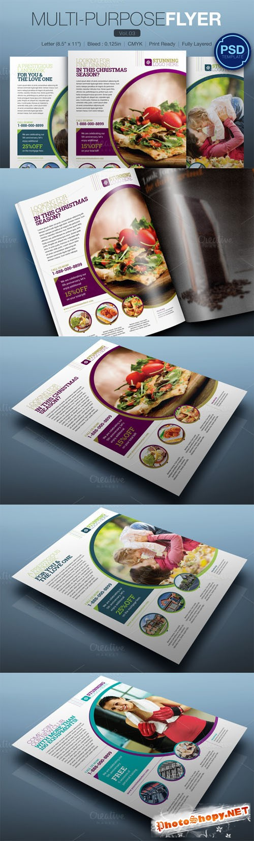 Multipurpose Flyer Vol.03 - Creativemarket 125841
