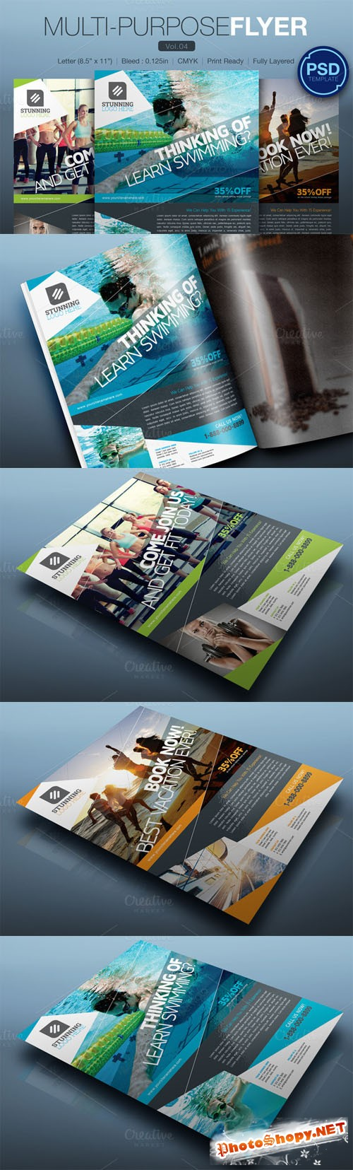 Multipurpose Flyer Vol.04 - Creativemarket 145632