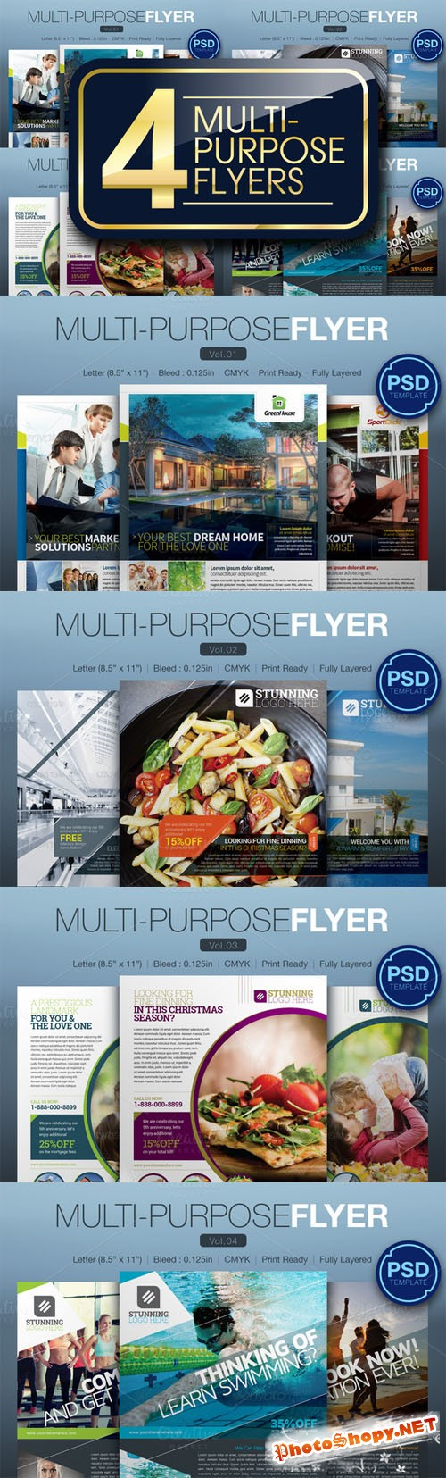 Multipurpose Flyer Bundle - Creativemarket 166234